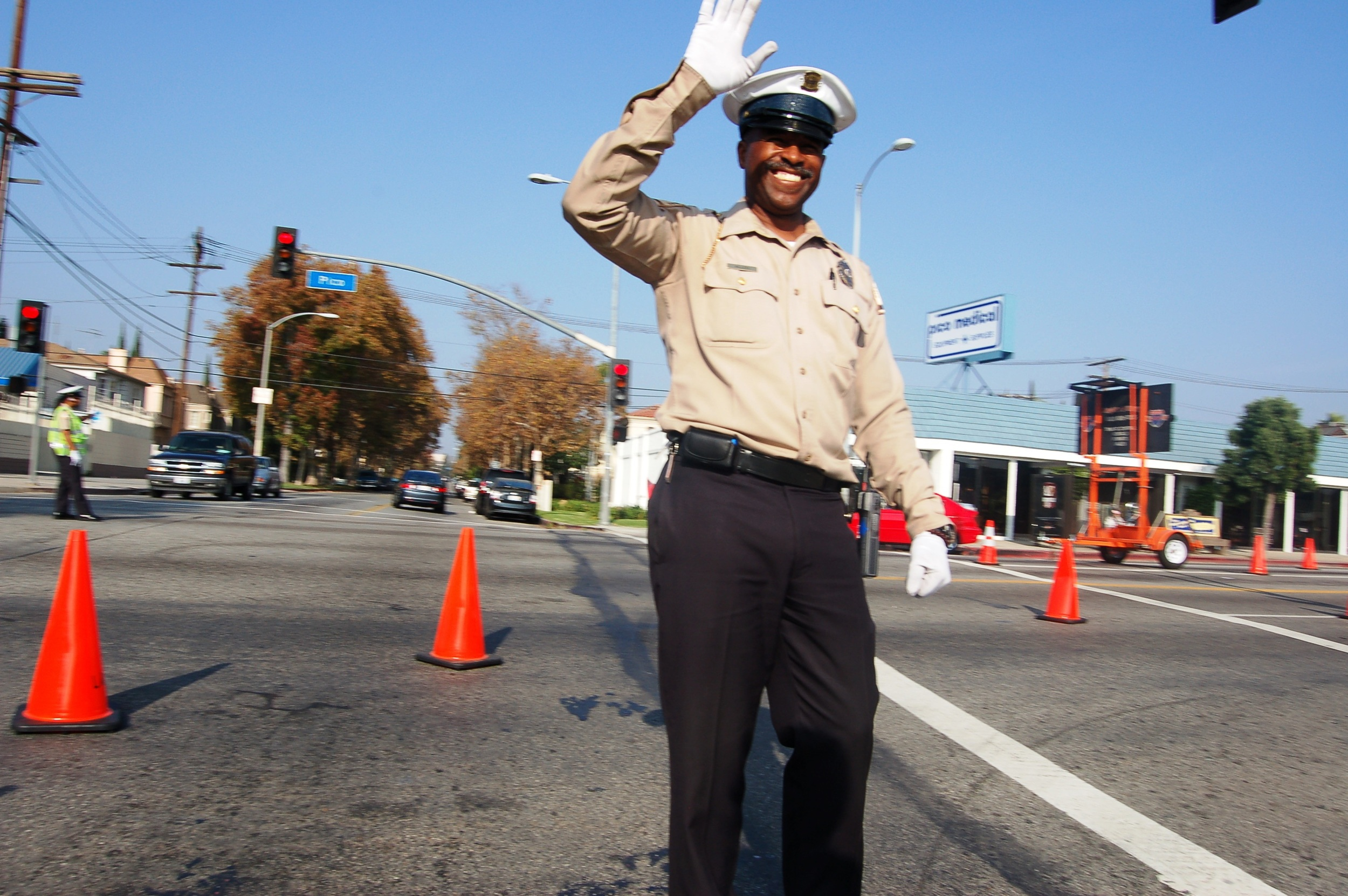 Happiest traffic cop