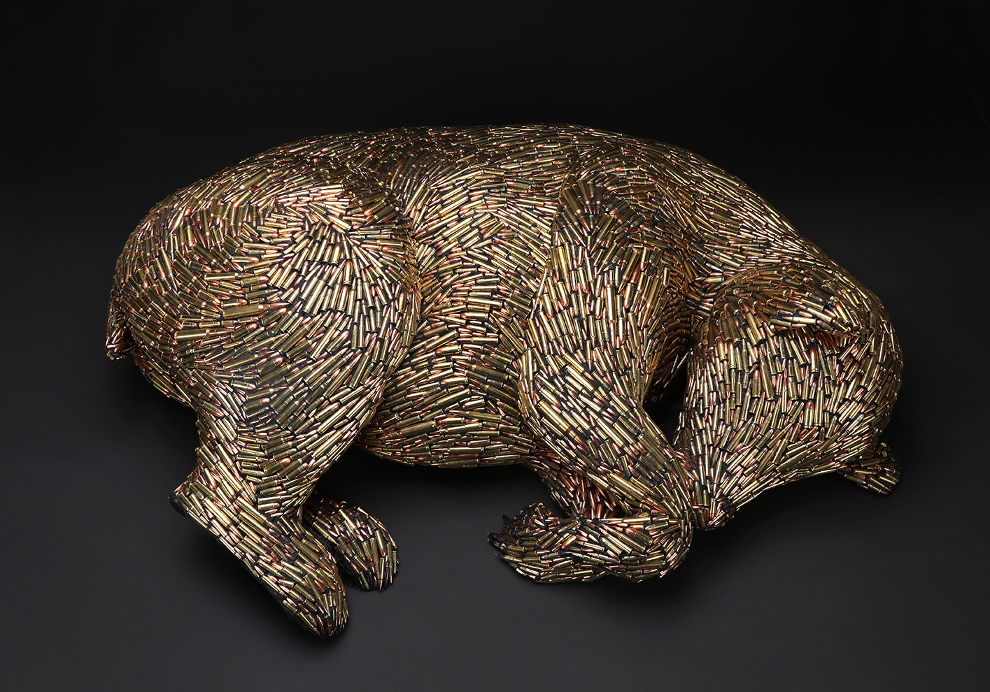 "Hibernating Bear 11""x37""x26"""