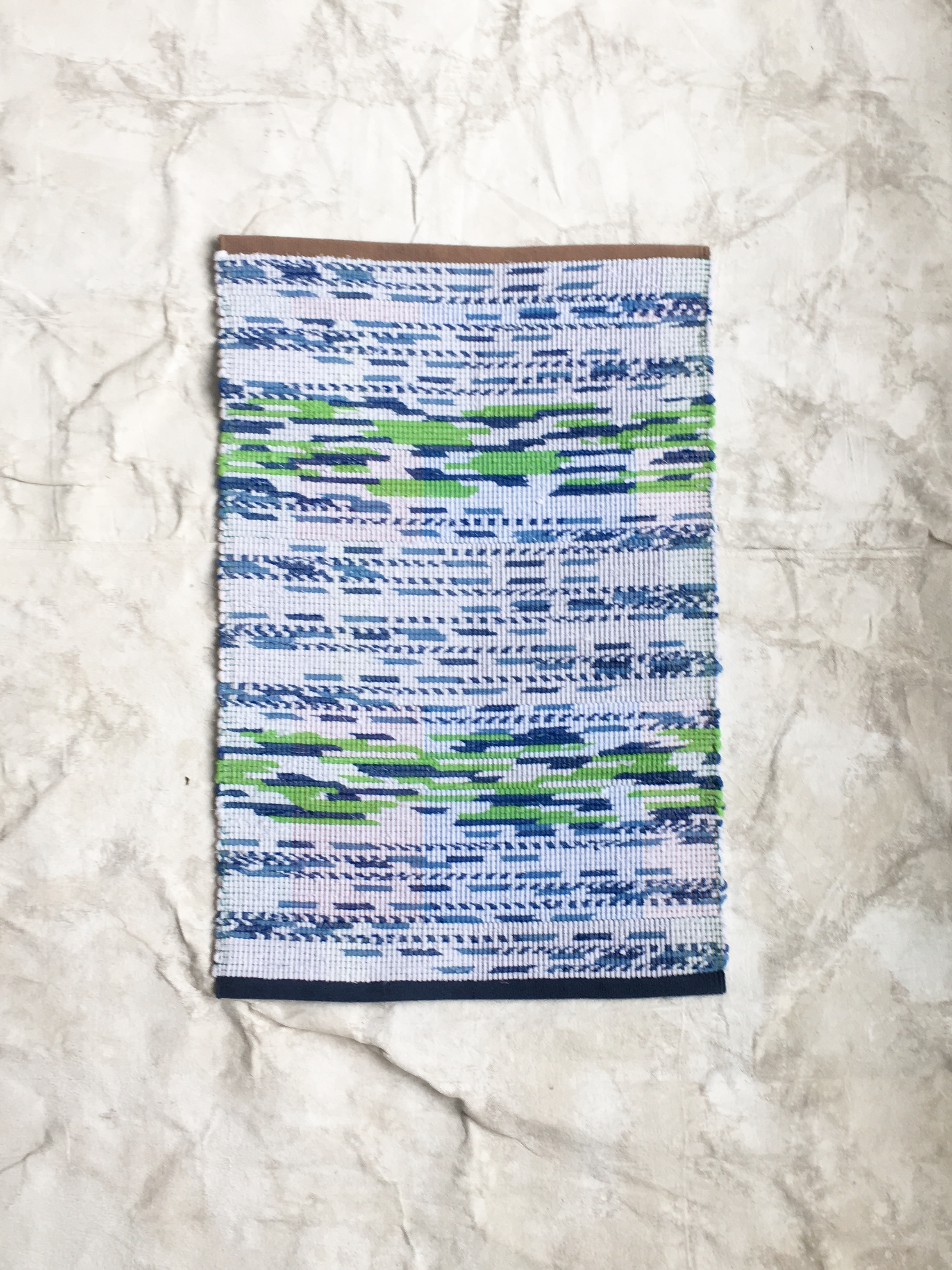 Claudia created a special series of rugs for us, using our Turkish towels.