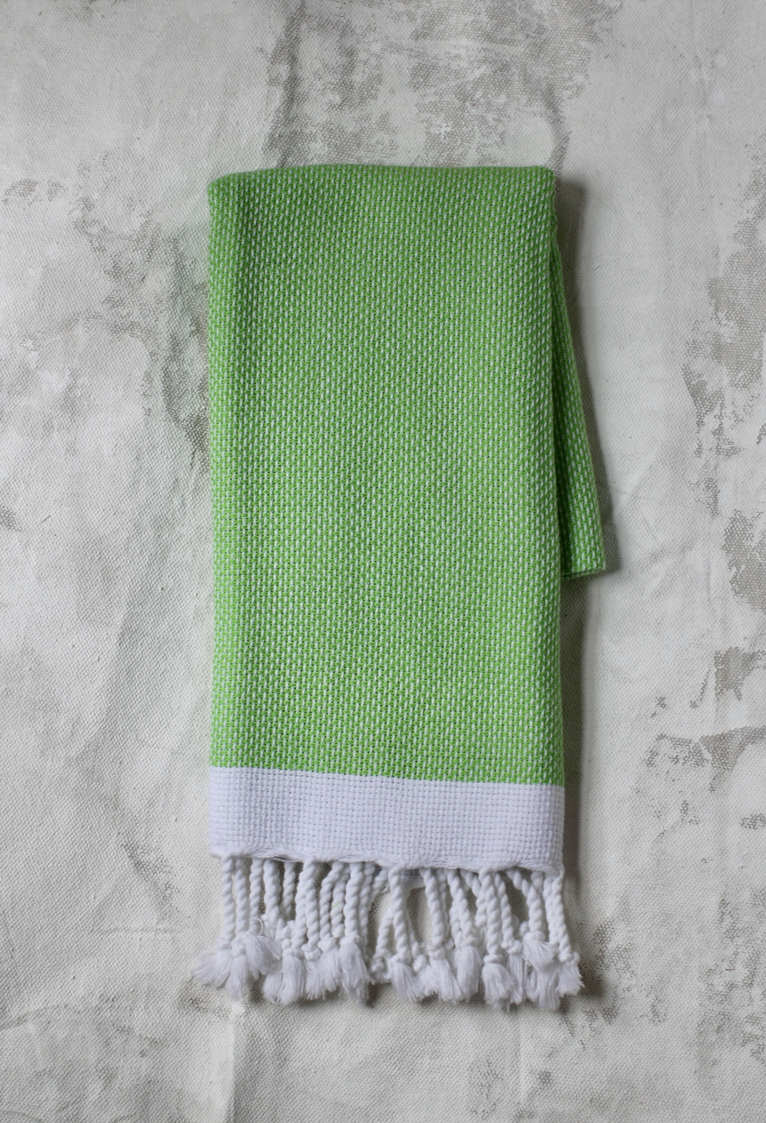 Large Knit Peskir - Bright Green $22
