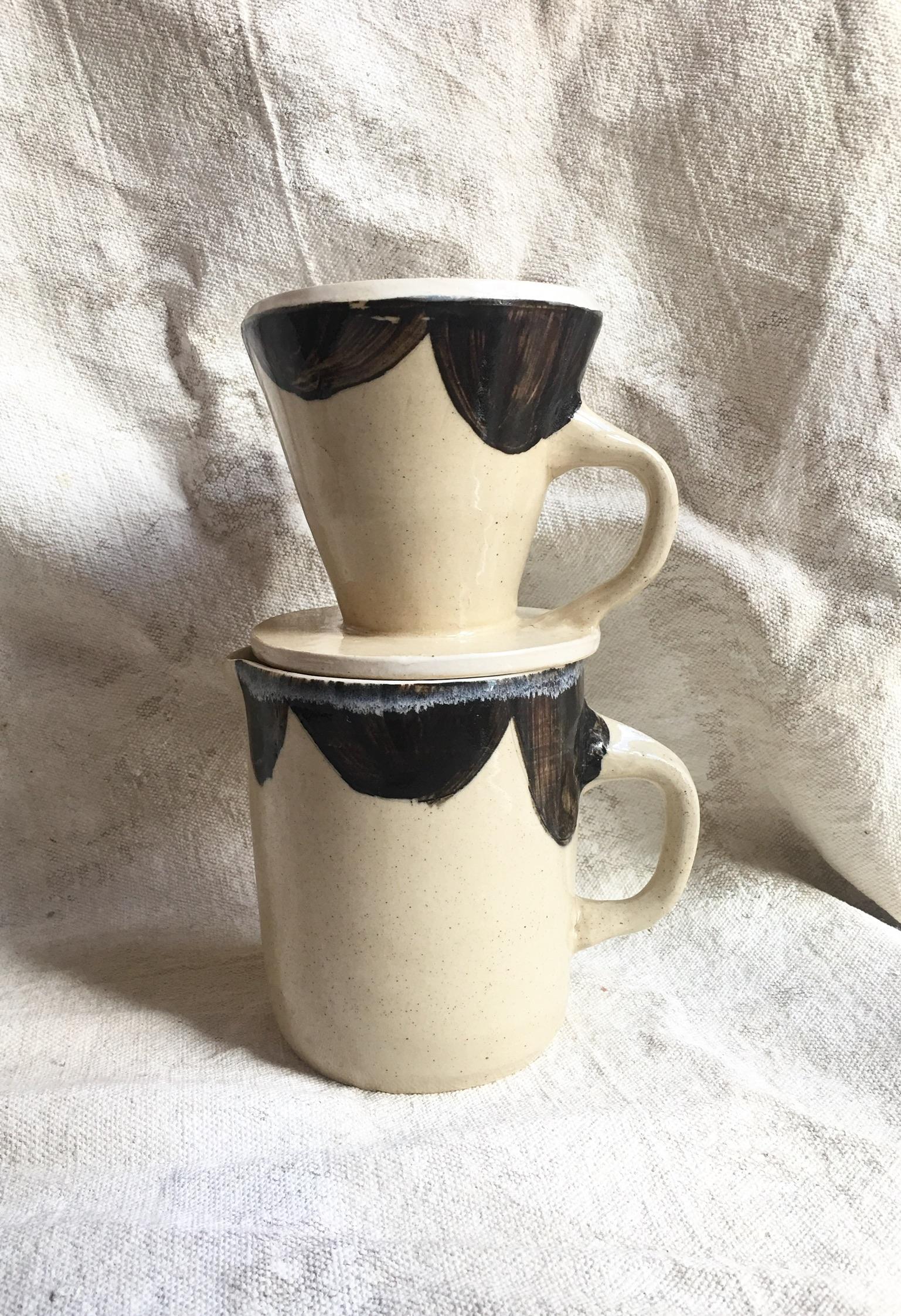 Stoneware Pour-over Coffee maker $65
