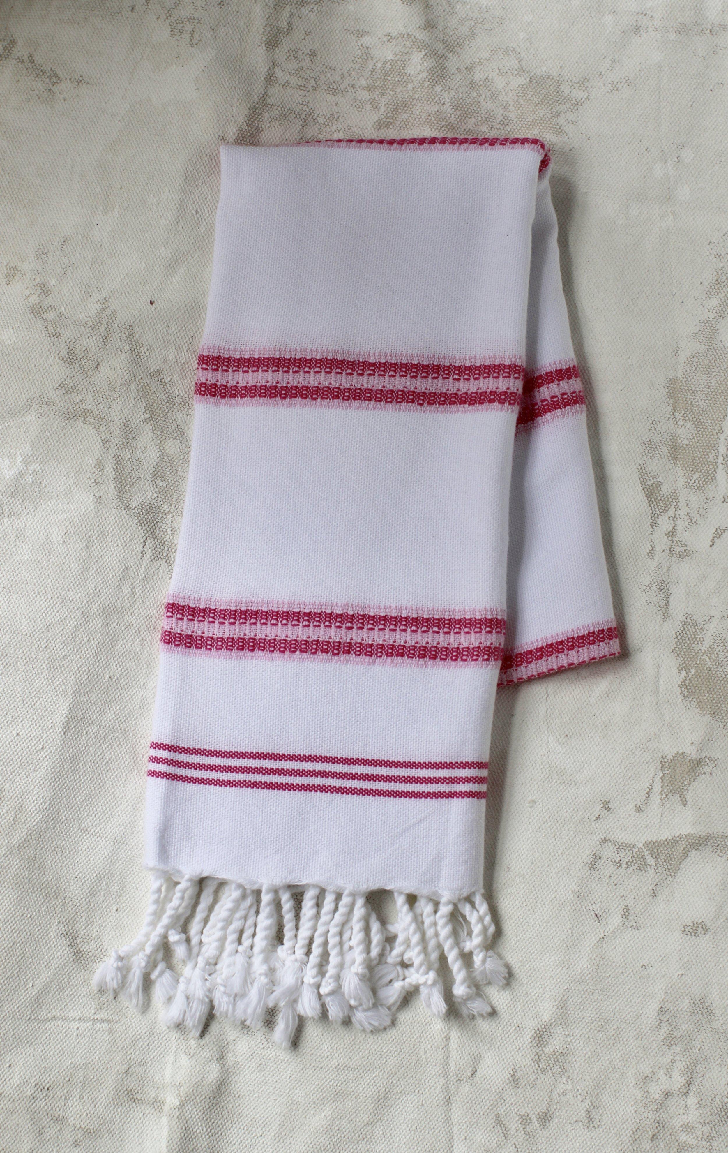 Peskir - Bengal Striped pink - $22