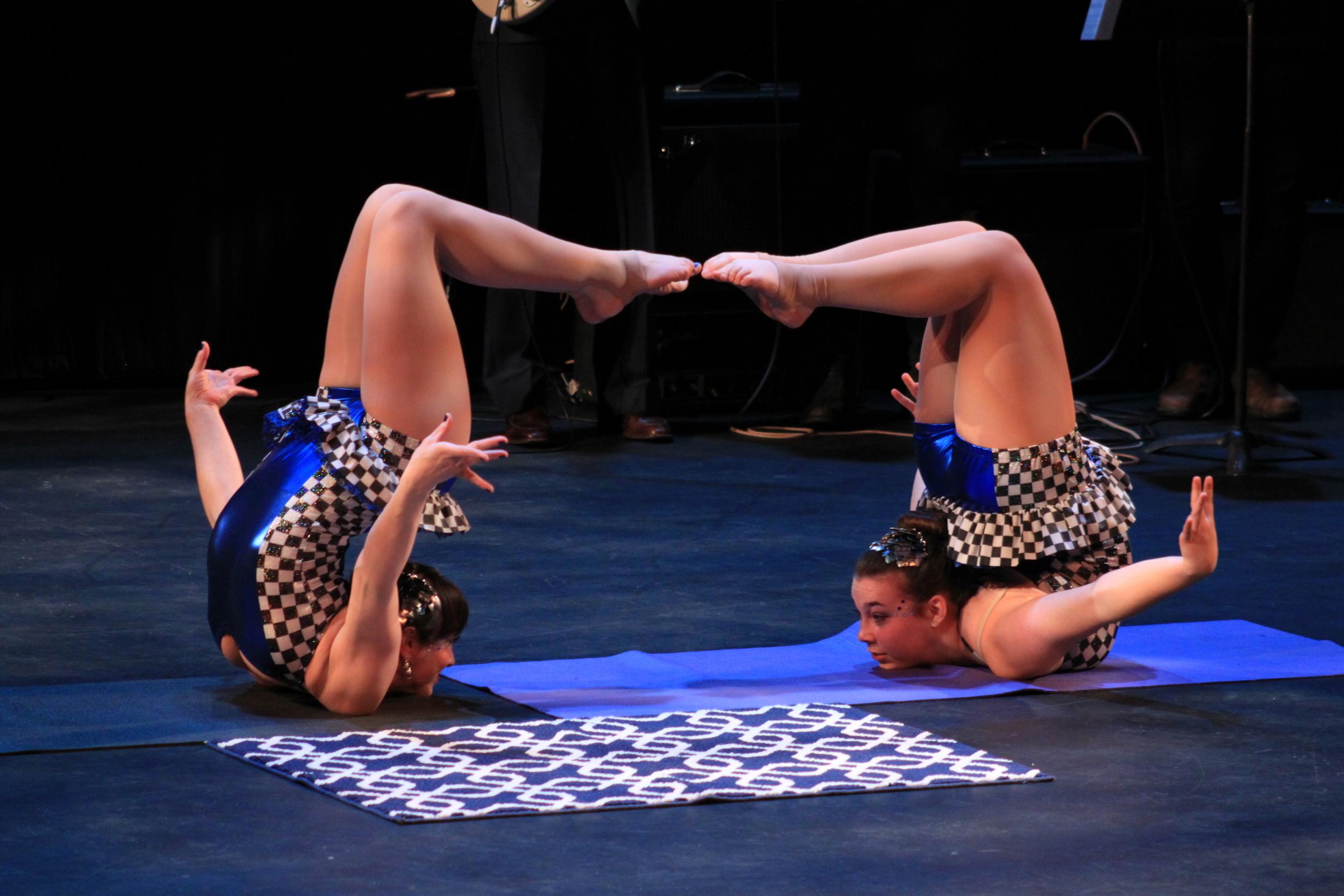 With Melanie Botelho-Urbanski in The Prism Cabaret, February 2015  Photo by Chris Hearn