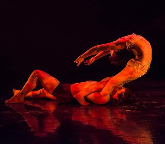 """On pas de deux featuring Wolfe and the wildly flexible Samantha Halas, is incredibly sensual but also nerve-wracking to watch as Halas' body contorts into unfathomable positions.""- Review by Broadway world. ""Fossil"" Choreographed by Sandra Laronde from ""Backbone"" (Red Sky Performance)  Aug 2015, Oct- Nov. 2017"
