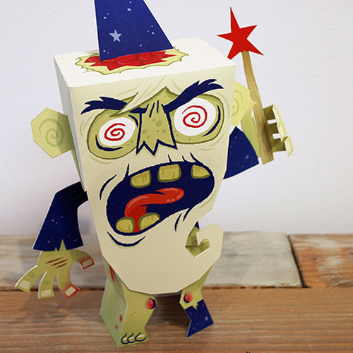 Zombie Wizard Paper Toy