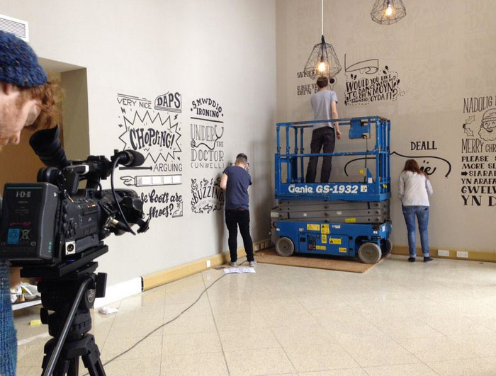 We were filmed for the What's Occurrin'Cardiff programme for theMade in Cardiff TV channel.
