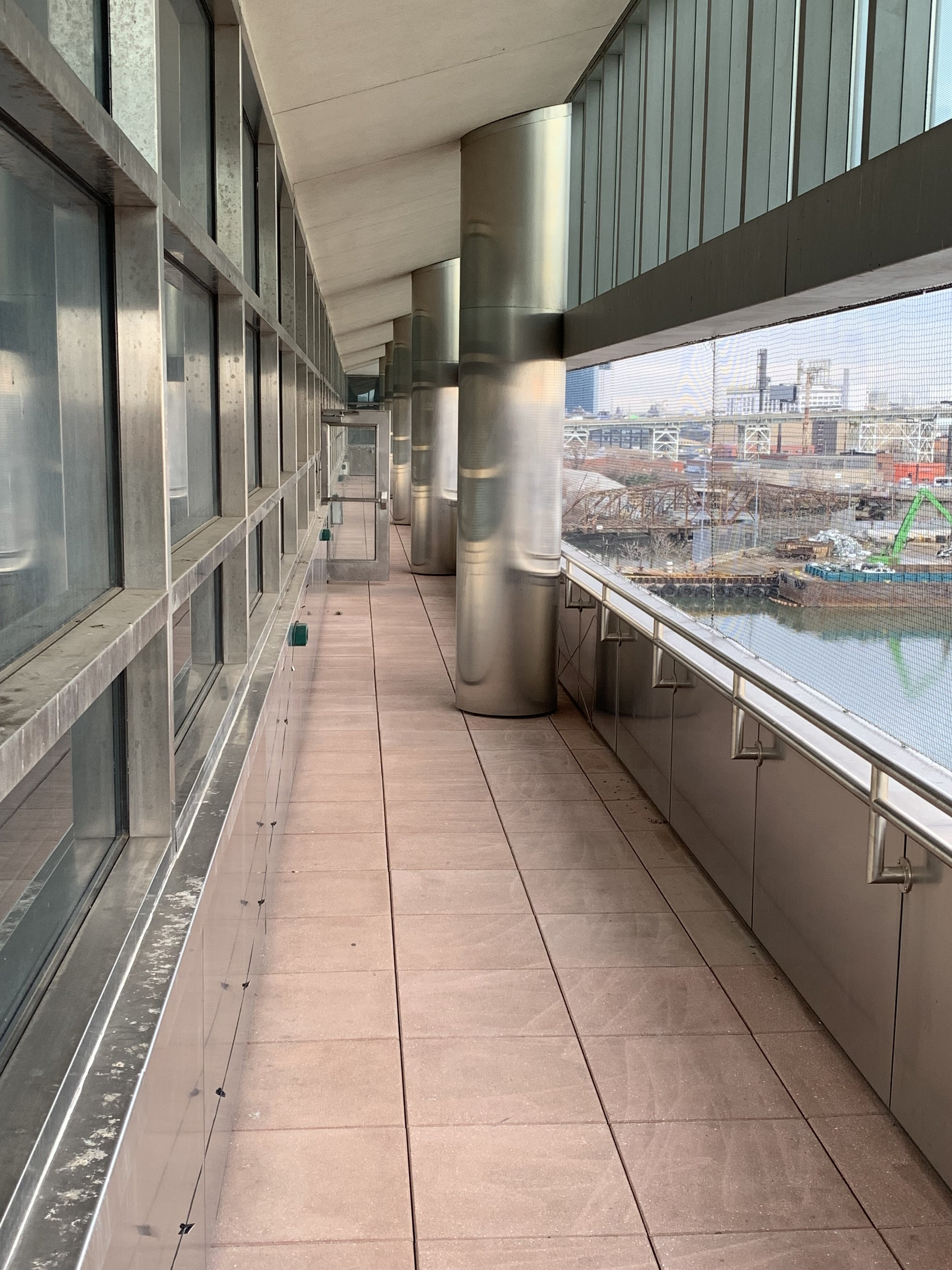 Balcony Enclosed With Bird Netting