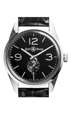 Bell and Ross Vintage BR Automatic Watch BR123 Officer Black   CALL US: 312-944-3100