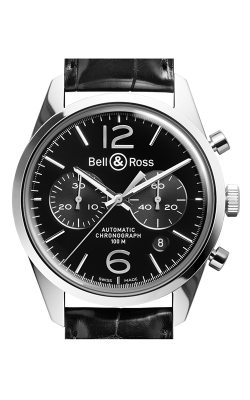 Bell and Ross Vintage BR Chronograph Watch BR126 Officer Black   CALL US: 312-944-3100