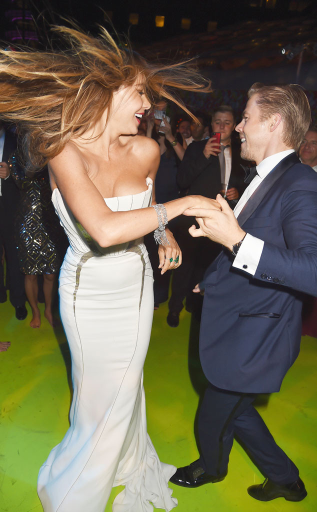Sofia Vergara dancing the night away with Derek Hough from Dancing With the Stars.