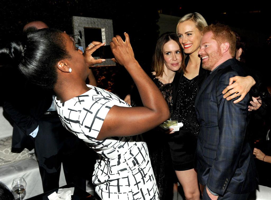 Uzo Aduba, Taylor Schilling, Sarah Paulson & Jesse Tyler Ferguson. Talk about star studded picture.