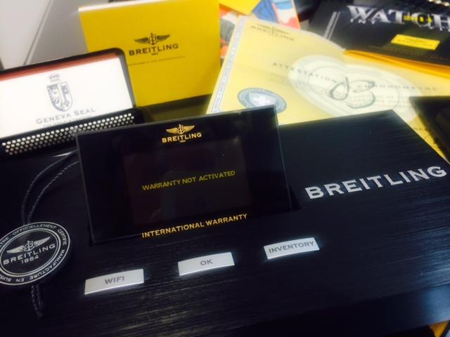 Warranty Chip and Breitling Warranty Initiation Box