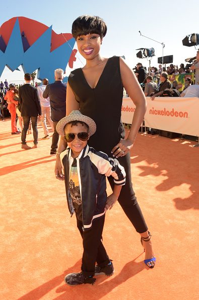 Jennifer Hudson, who brought along her equally as stylish son David, 5, looked sleek and chic in a black Tamara Mellon jumpsuit paired with black and cobalt Giuseppe Zanotti sandals, Jack Vartanian earrings and bracelet and a Le Vian ring.