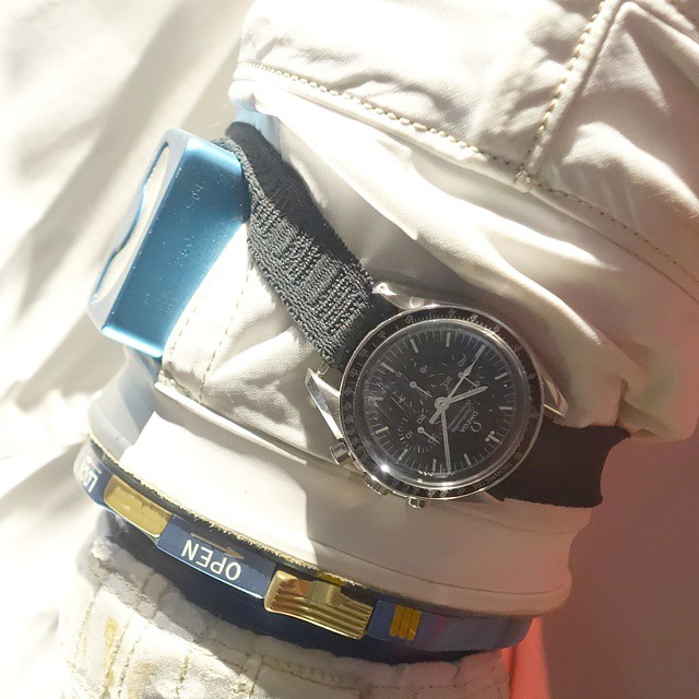 A proper OMEGA Speedmaster wristshot requires an Apollo spacesuit.