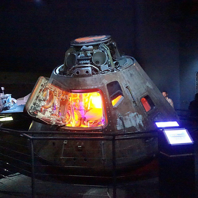 Apollo 17's actual command module.