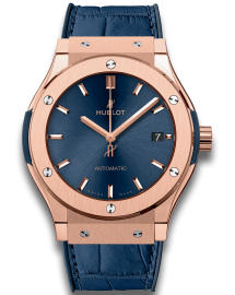 Hublot Classic Fusion Watch  Blue King Gold  CALL US: 312-944.3100