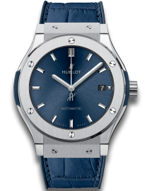 Hublot Classic Fusion Watch  Blue Titanium  CALL US: 312-944.3100