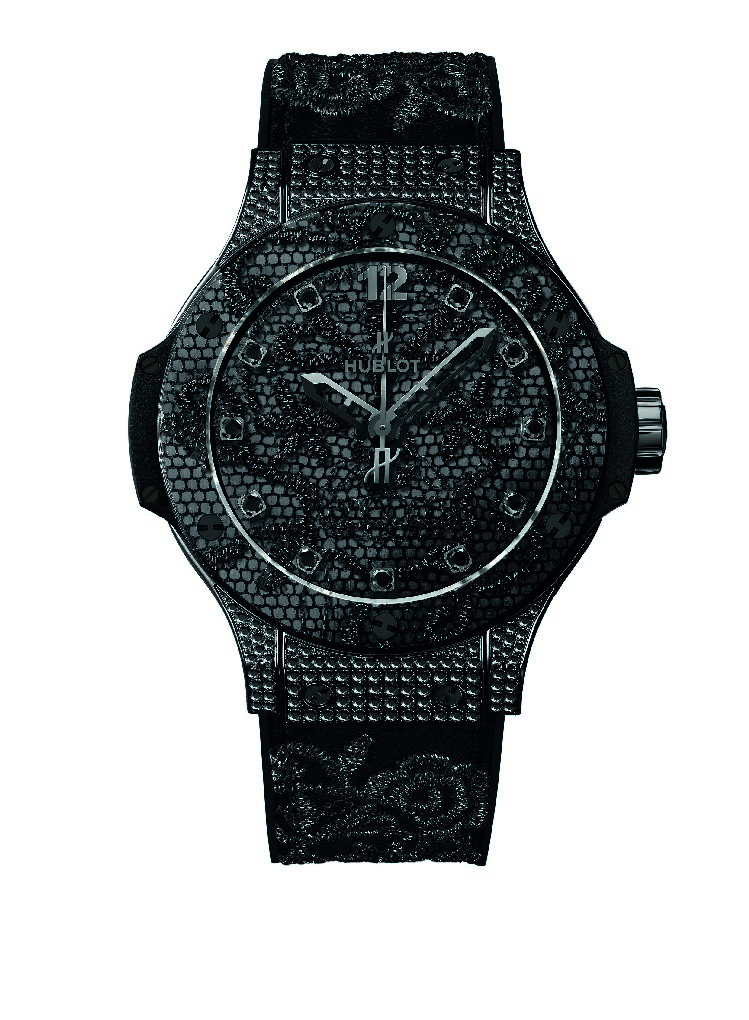 Hublot Big Bang Broderie watch All Black, studded.