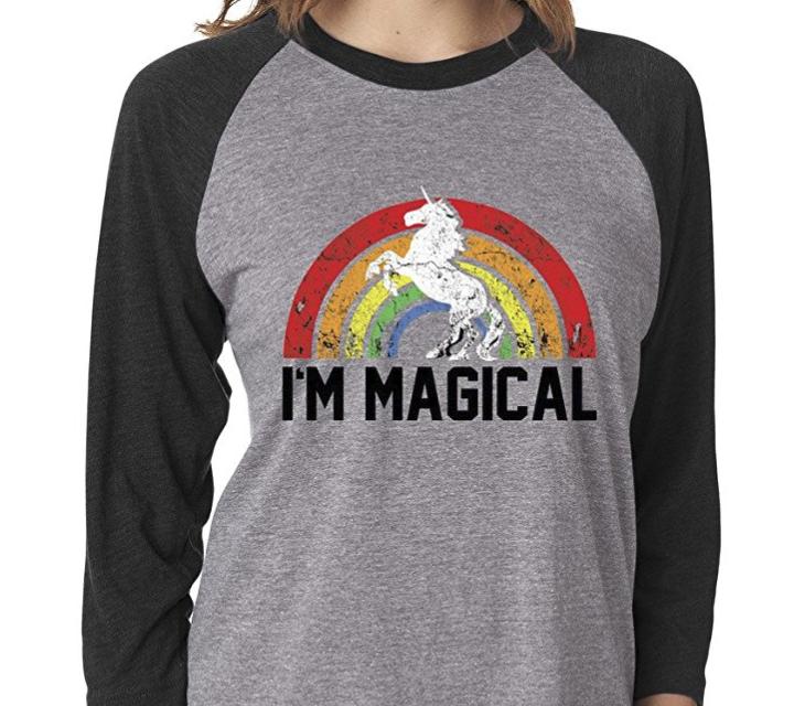 18. I'm Magical Rainbow Unicorn 3/4 Sleeve Tshirt - $28