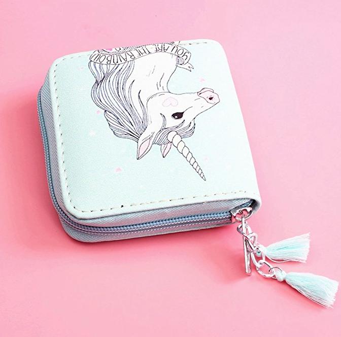 23. Timlee Cute Rainbow Unicorn Wallet - $12.99