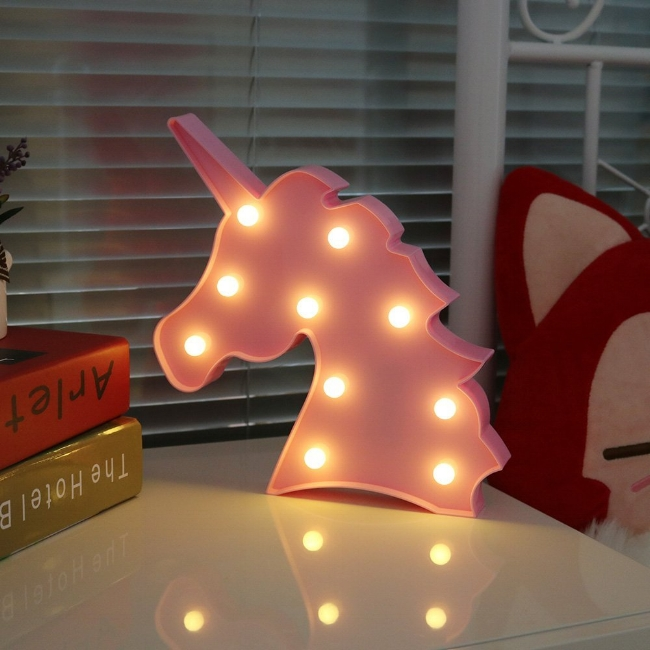 12. Marquee Letter Lights Unicorn Wall Decoration - $13.99