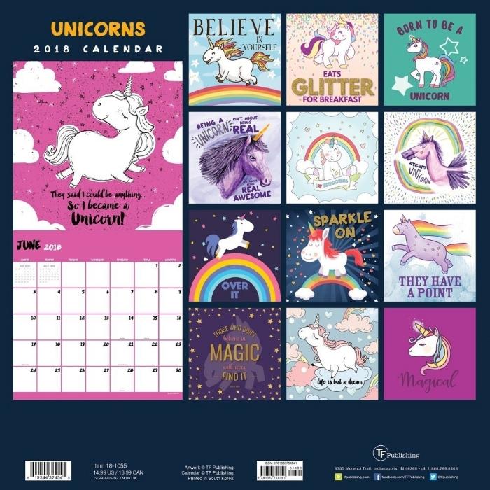 25. I Believe in Unicorns 2018 Wall Calendar - 14.97