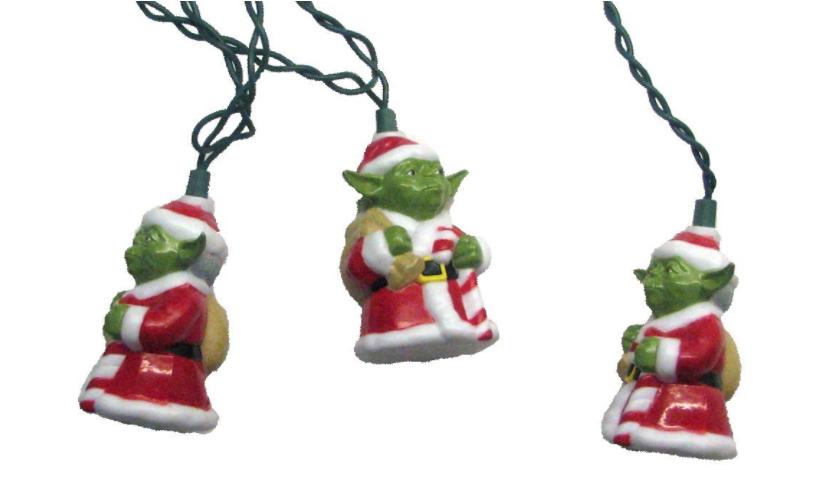 3. 10-Light Star Wars Santa Yoda Light Set - $19.98