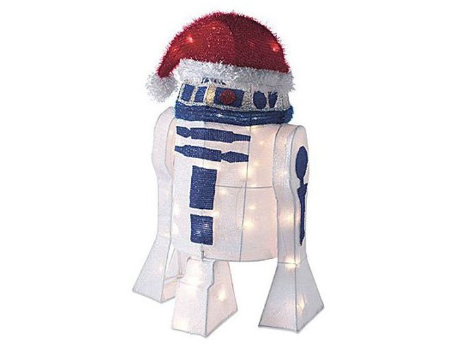 """5. 50-Light 28"""" R2D2 Tinsel Decoration with Package - $43.07"""