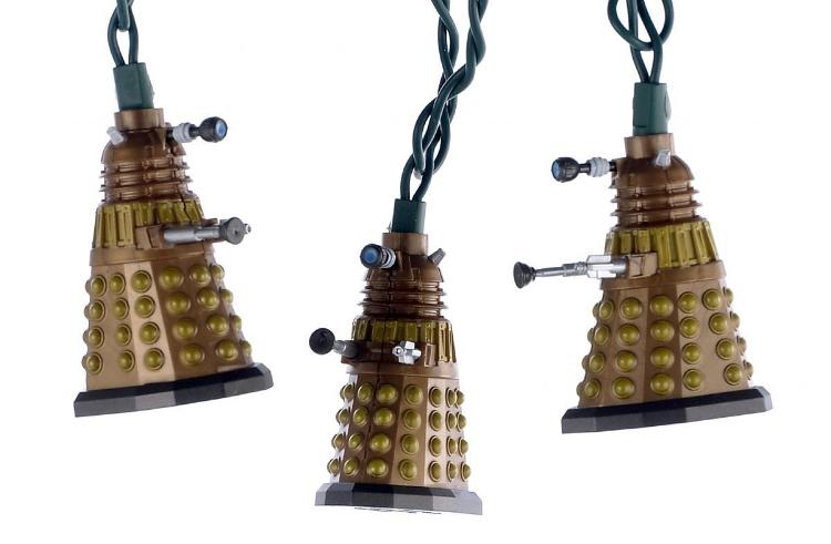14. 10-Light Doctor Who Bronze Dalek Light Set - $26.42