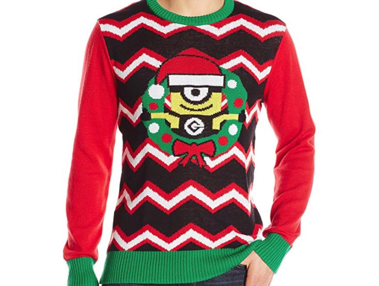 1. Despicable Me Minion Wreath Sweater - $17.87