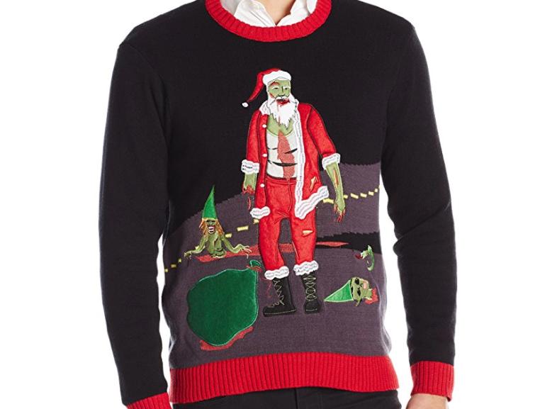 5. Walking Dead Santa Ugly Christmas Sweater - $29.99