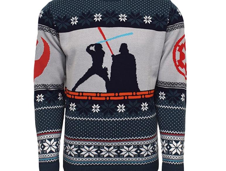 12. Star Wars Luke vs Darth Christmas Jumper - $49.99