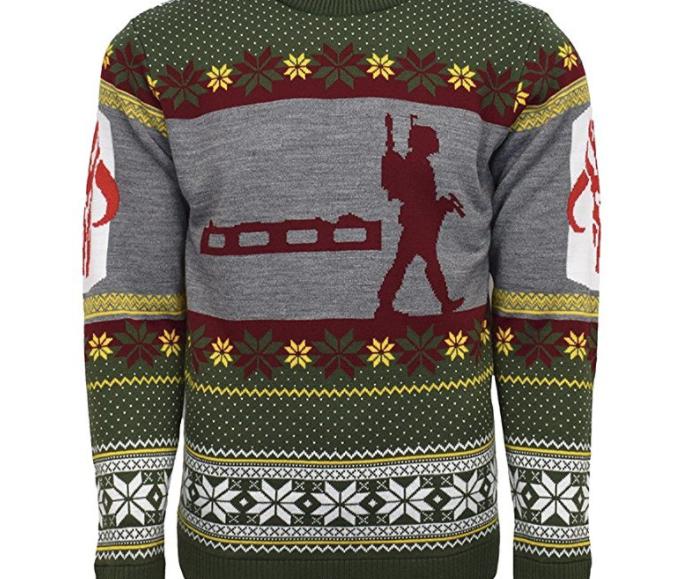 13. Star Wars Boba Fett Nordic Christmas Jumper - $49.99