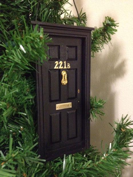 DIY 221B Baker Street Sherlock Ornament