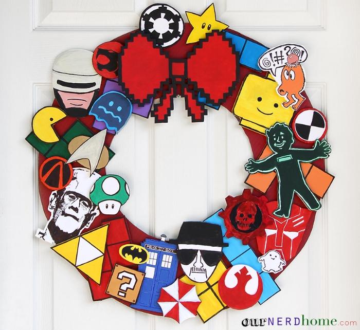 DIY Ultimate Fandom Holiday Wreath