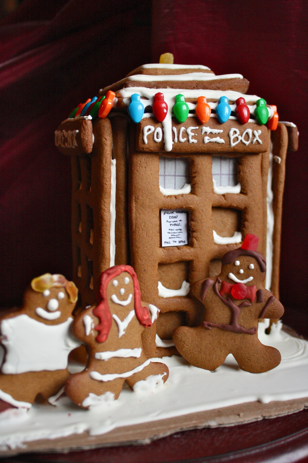 TARDIS Doctor Who Gingerbread House Inspiration