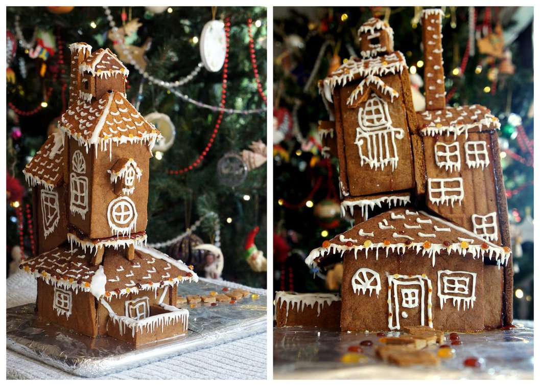 The Burrow - The Weasleys Harry Potter Gingerbread House Inspiration