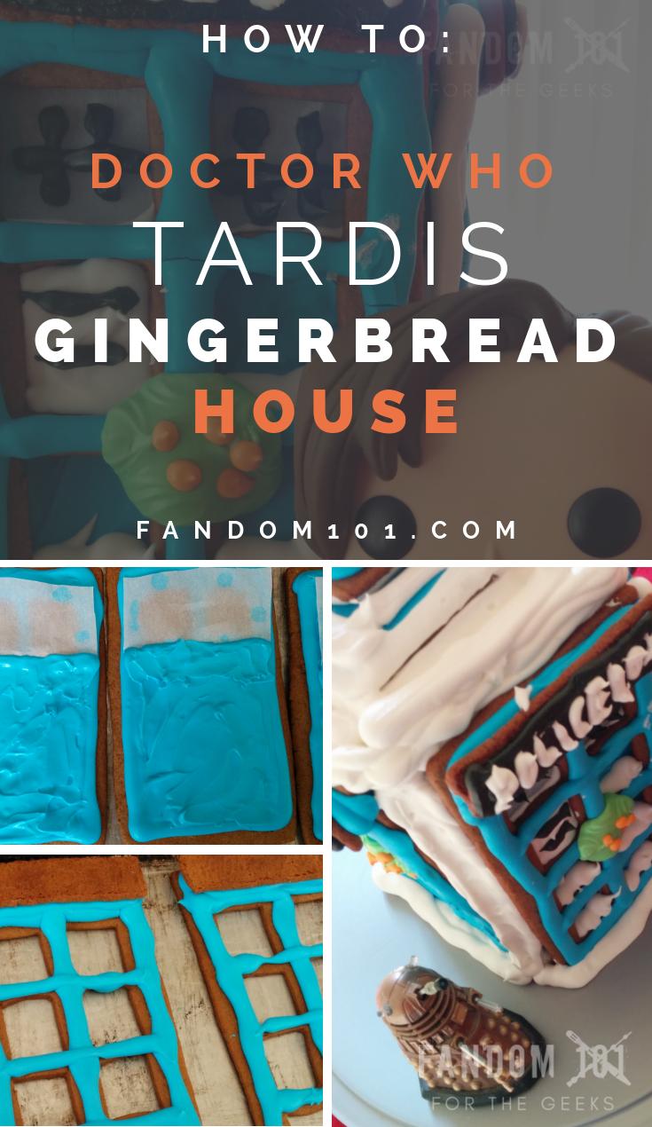 DIY TARDIS Gingerbread House Tutorial