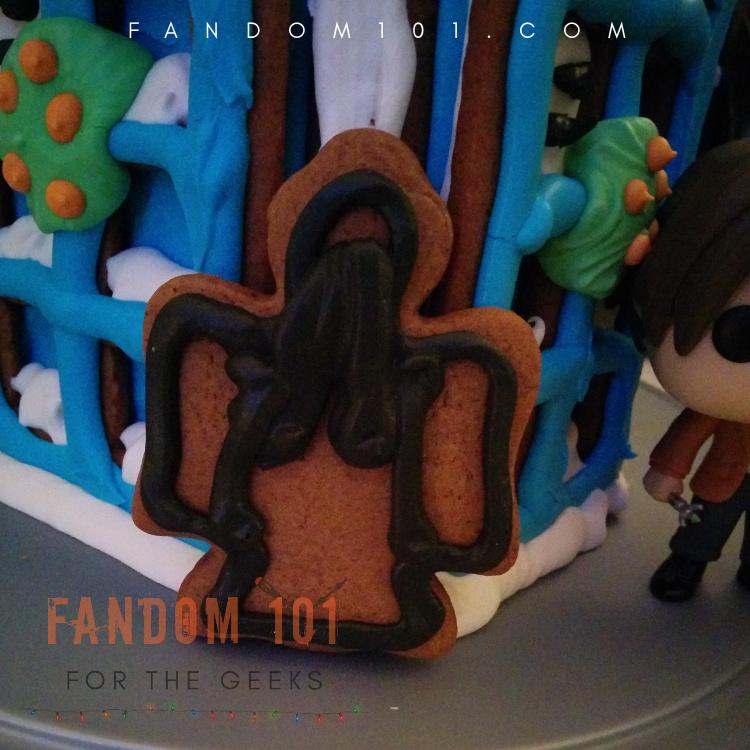 DIY Doctor Who TARDIS Gingerbread House Weeping Angel