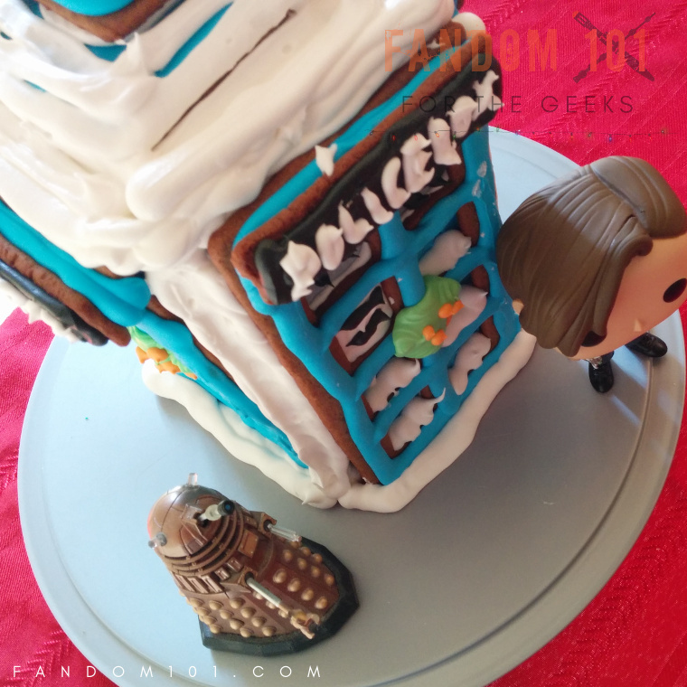 Doctor Who TARDIS Gingerbread House Eleven and dalek