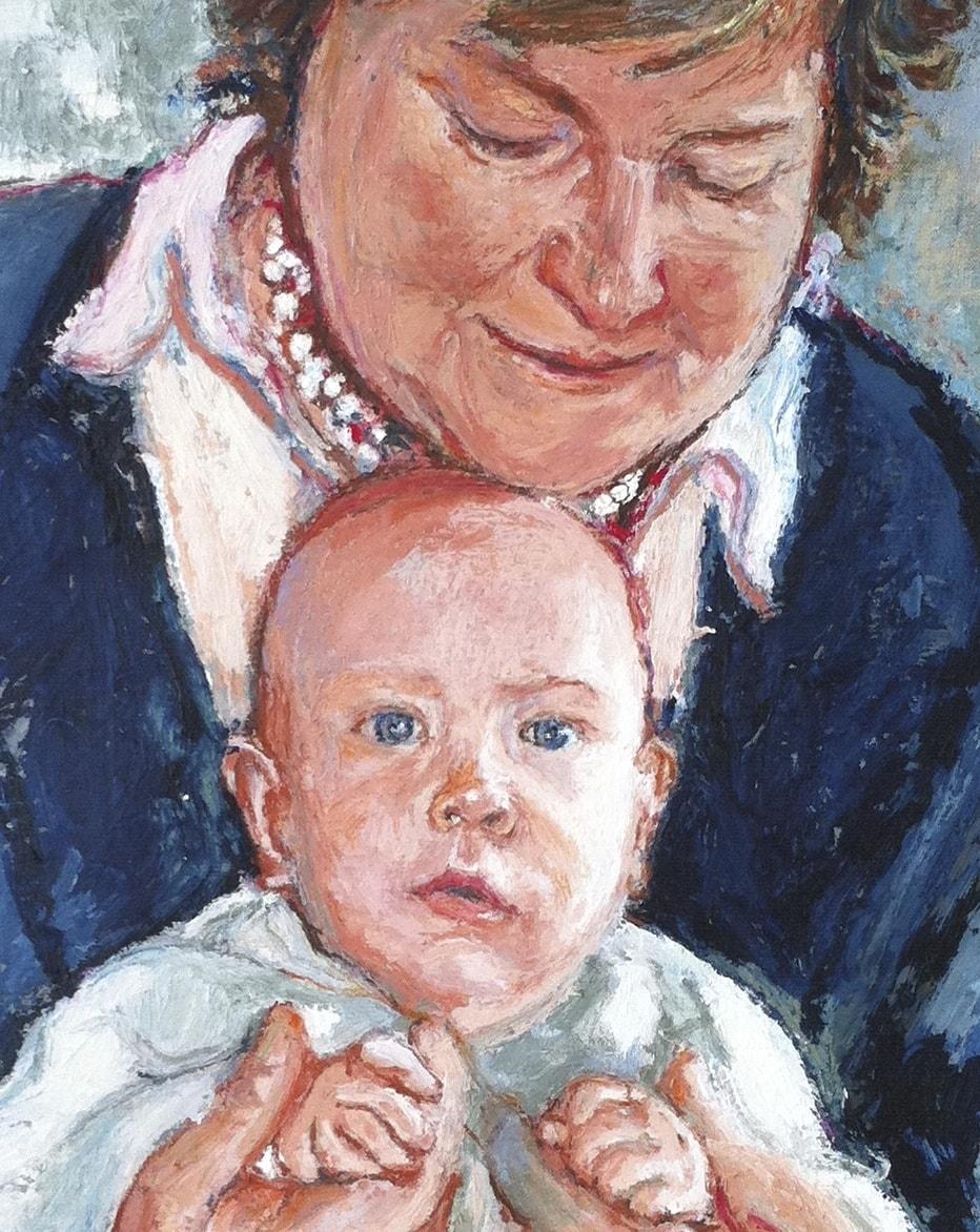 Balthasar with Grandmother