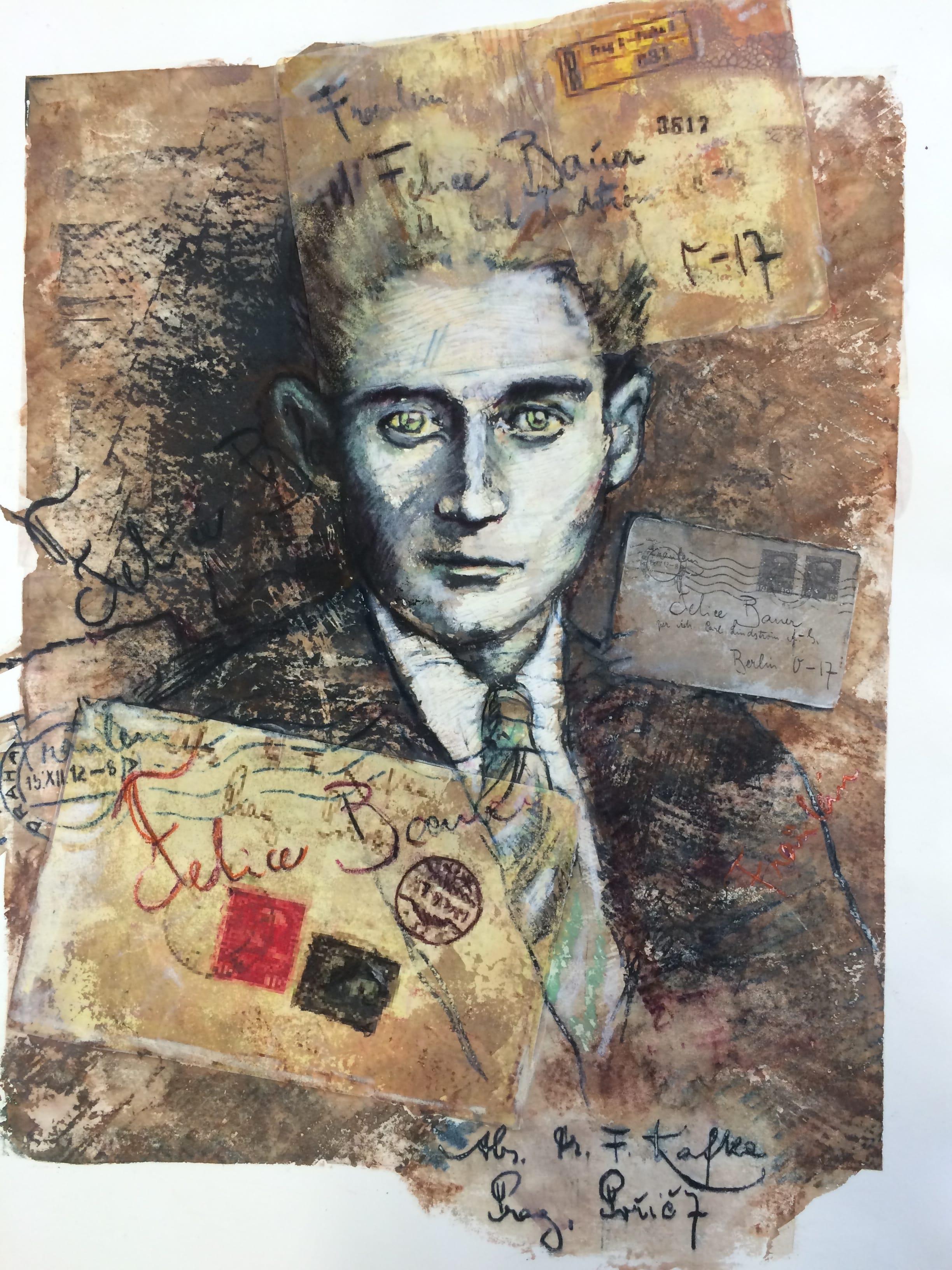Franz Kafka   screen monoprint, Siebdruck  22 x 15 in, (56 x 38cm)