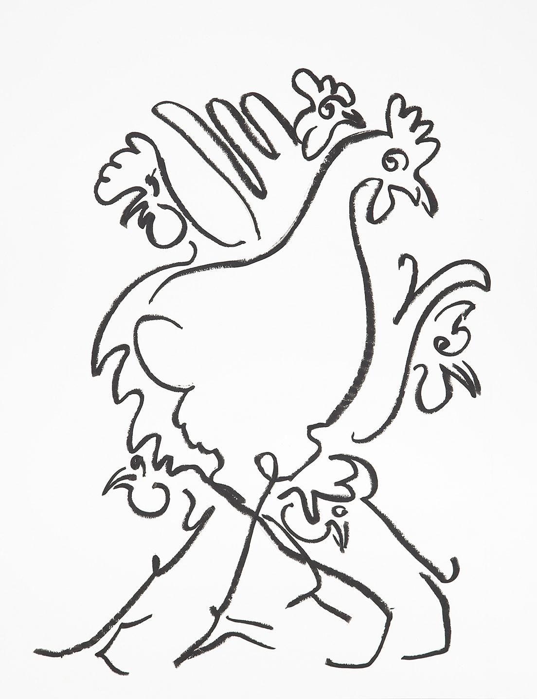 six hens