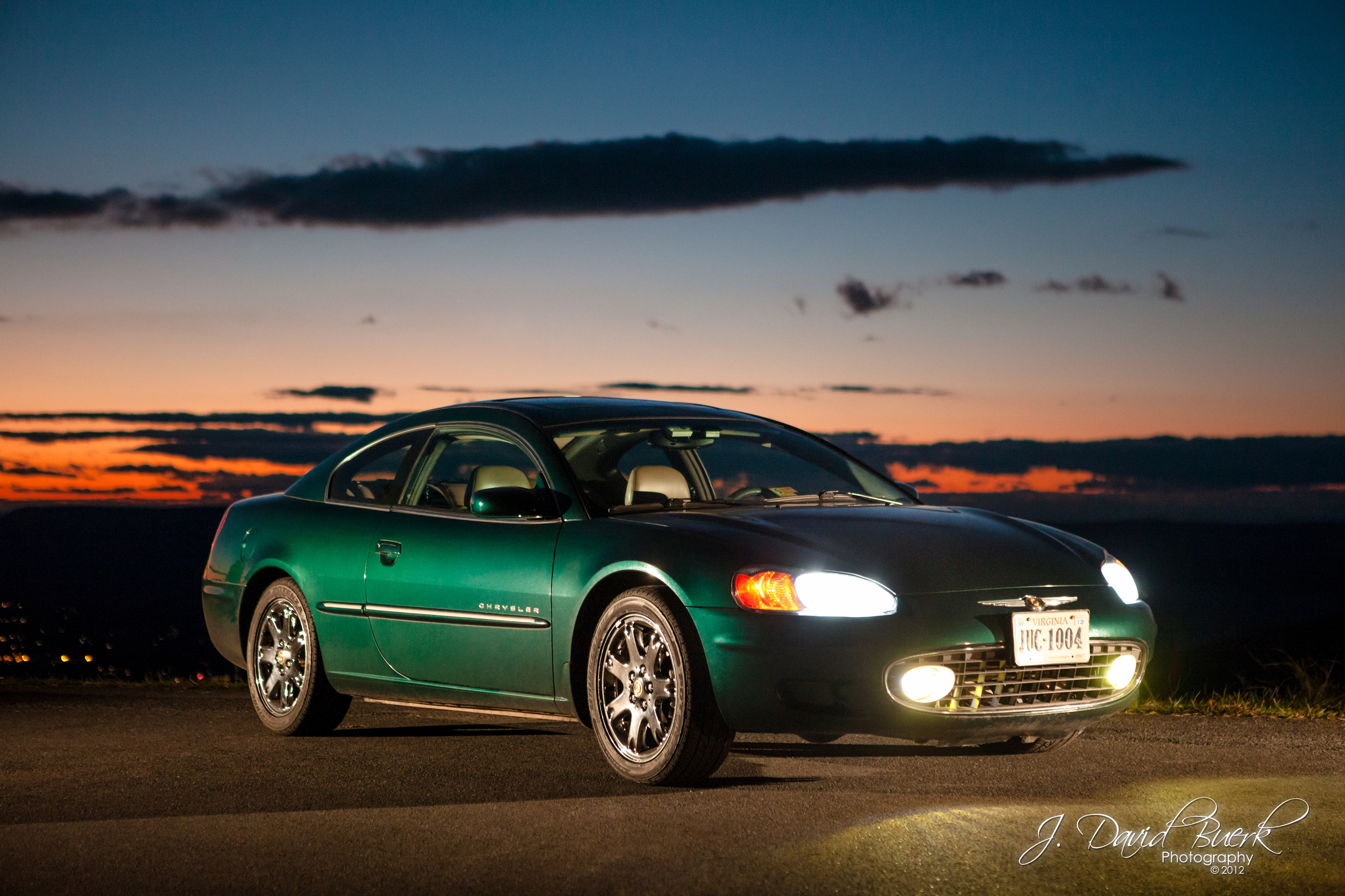 It's green!  And it's the only decent photo of my car!