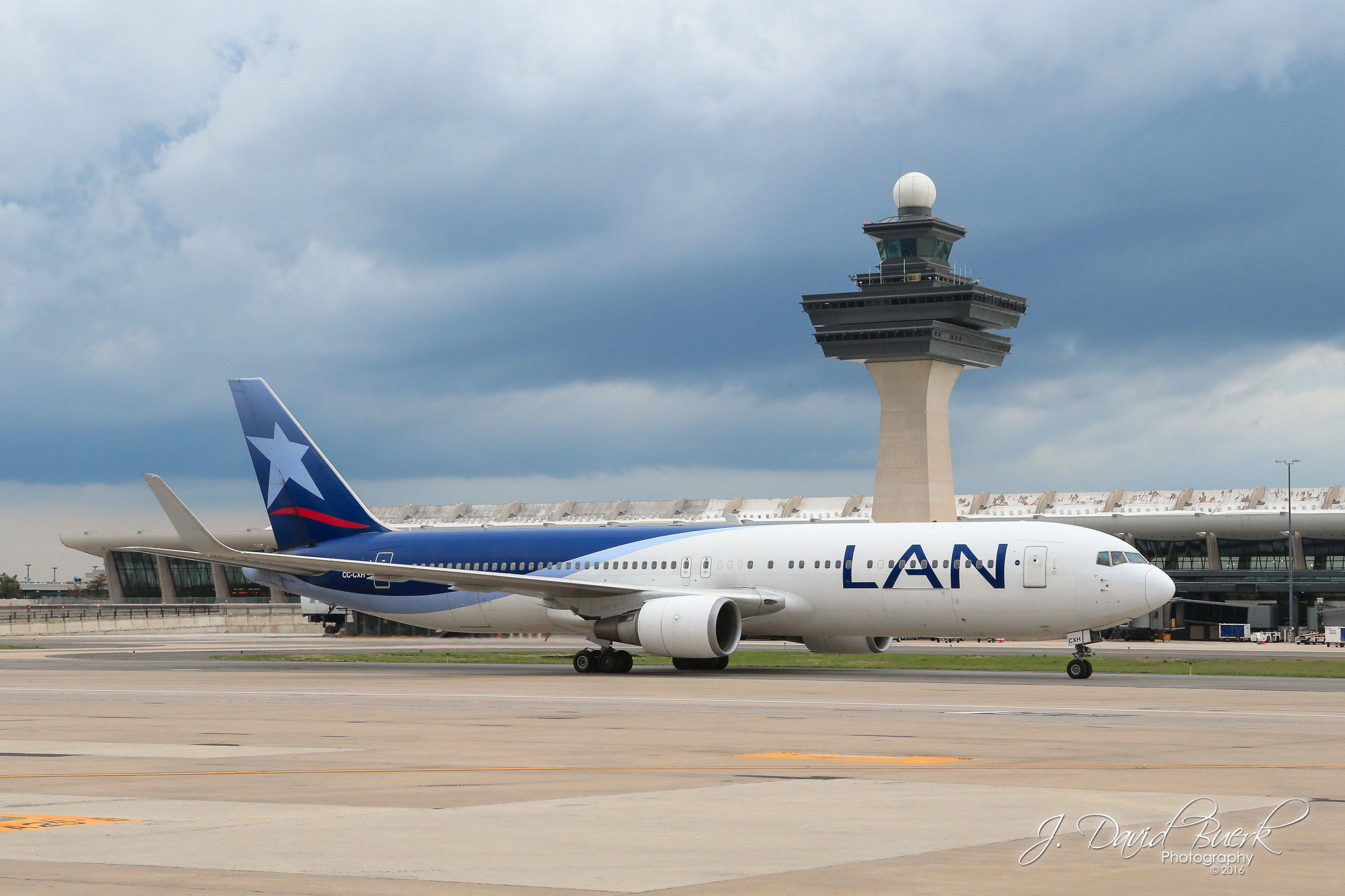LATAM Airlines begins inaugural service between Lima, Peru and Washington, DC on May 2nd, 2016.  LATAM is the result of LAN Airlines and TAM Airlines merging at the same time this inaugural flight took place; the LAN Airlines livery seen above has been discontinued.