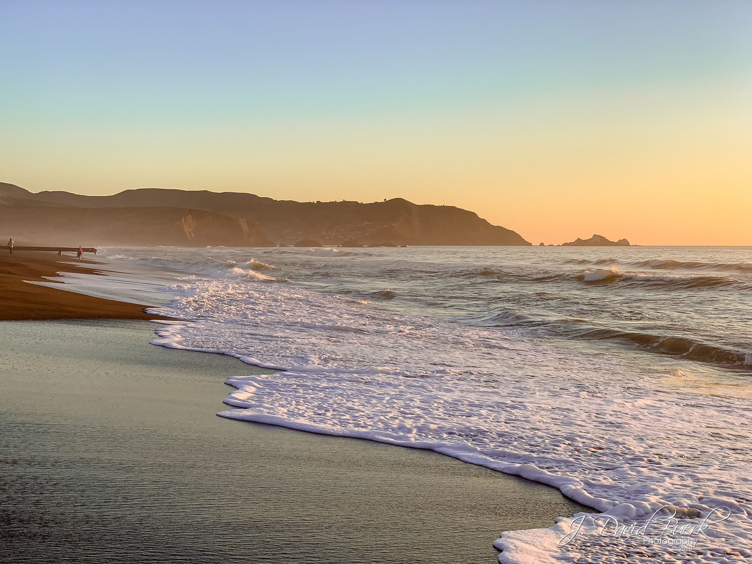 Pacifica Beach, Pacifica, California at sunset. My first full West coast sunset. Shot and edited entirely on iPhone XS.
