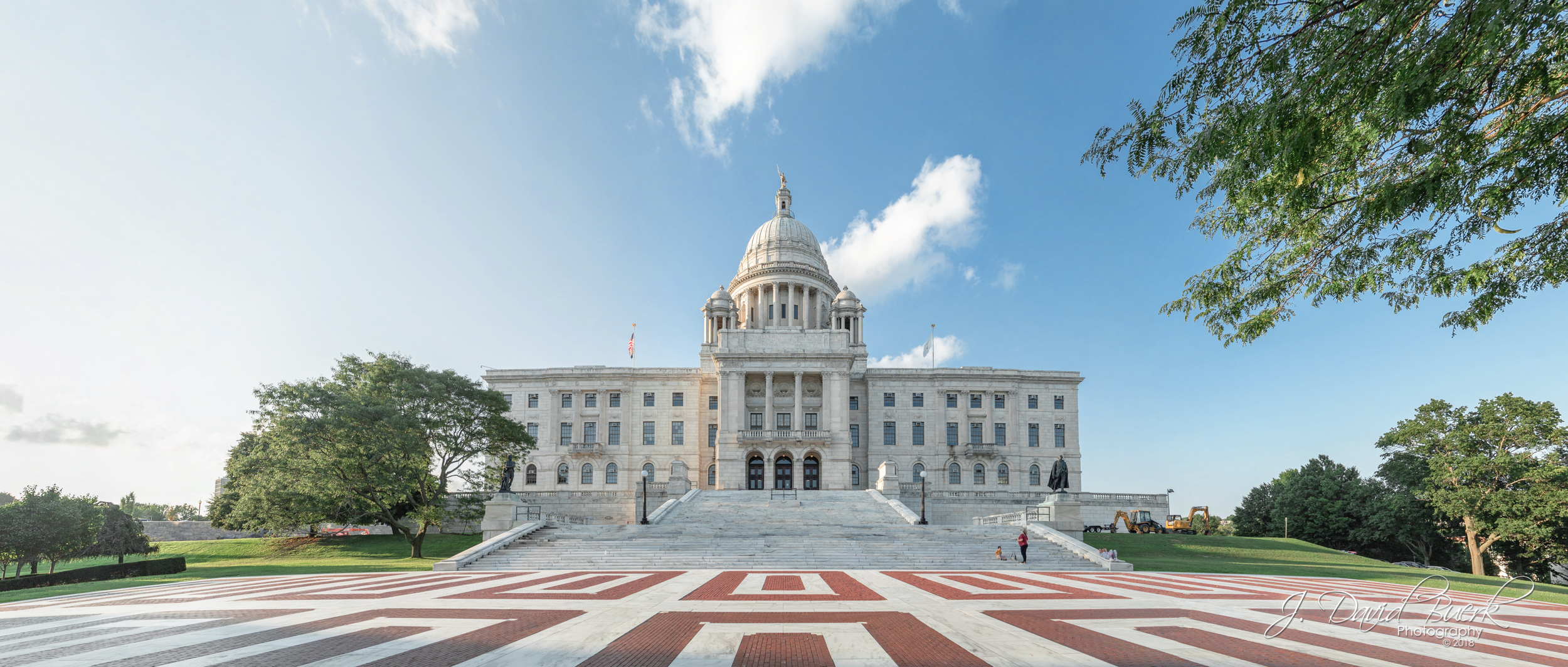 Southern face of the Rhode Island State House, Providence, Rhode Island.
