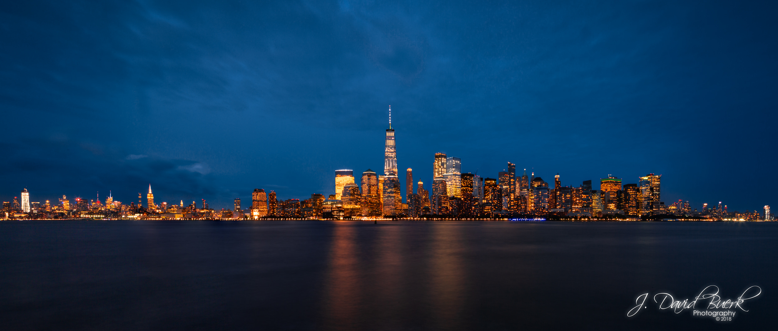 View of Manhattan from Liberty State Park, Jersey City, New Jersey.