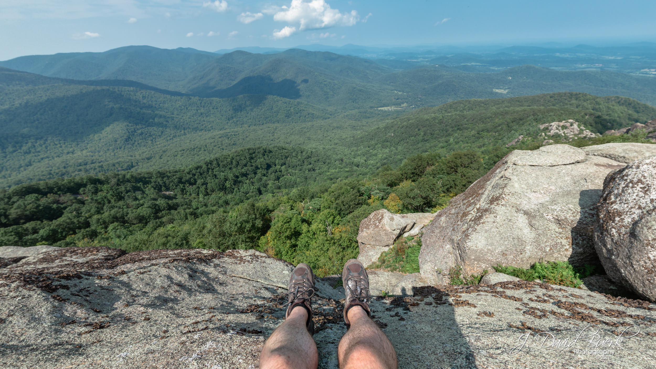 View from atop Old Rag Mountain in Shenandoah, Virginia. This would mark the first time I hiked Old Rag since my knee injury over a year prior.