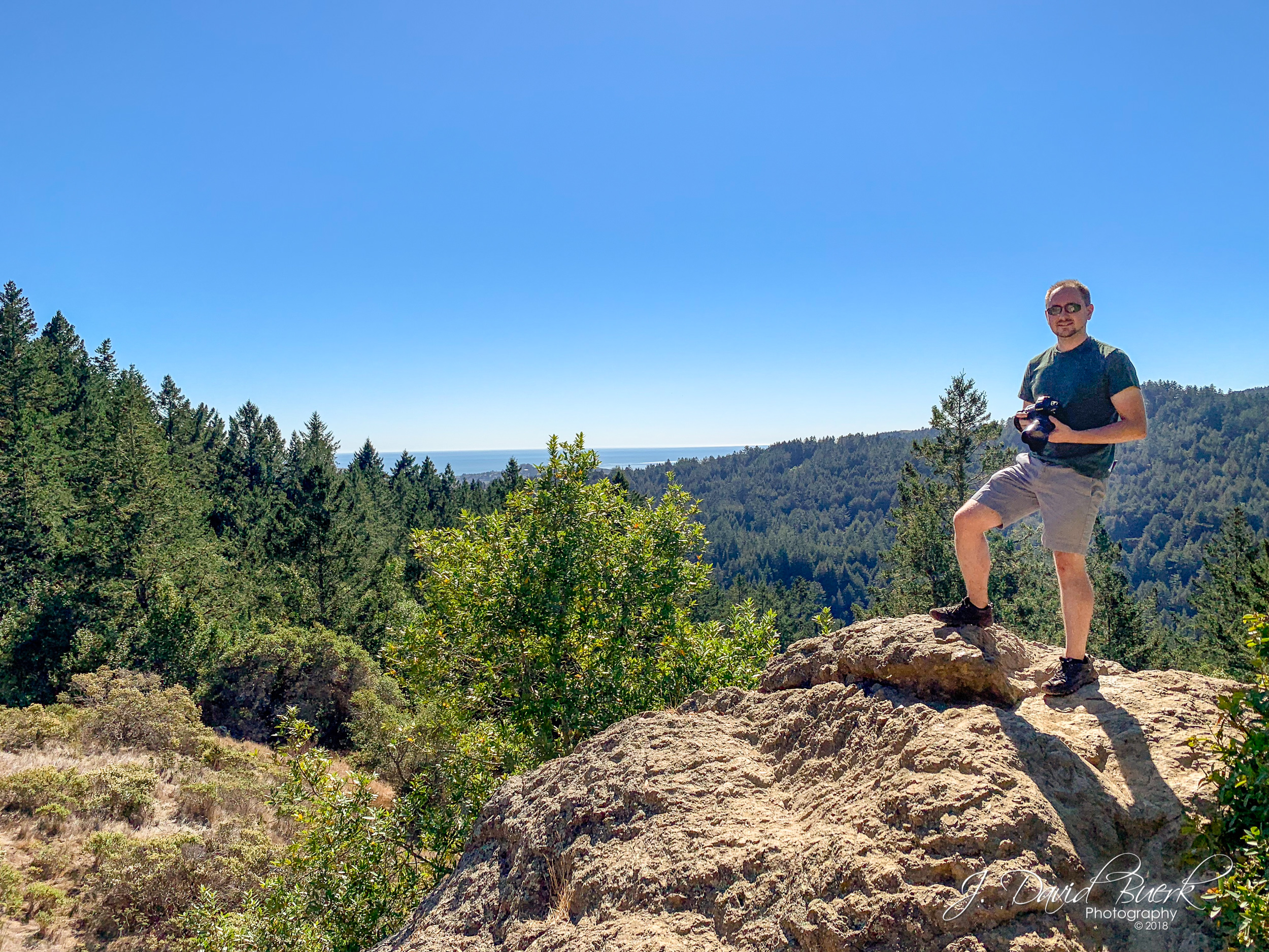 Myself atop the Panoramic peak above Muir Woods, Mill Valley, California. Shot and edited entirely on iPhone XS.